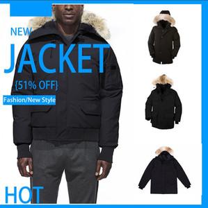 Modelli di esplosione di nuovo inverno vero lupo pelliccia grandi tasche di spessore piumino in piuma d'oca moda incappucciato fuori vestiti caldi partito giacca paio mod