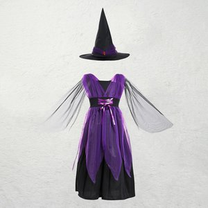 2020 Halloween Costume European and American children cosplay cartoon costume witch role playing Halloween costume
