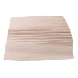 200pcs Kraft Paper Takeout Посуда Упаковка Мешки Fork Пакет Палочки Case Box Контейнер Greaseproof