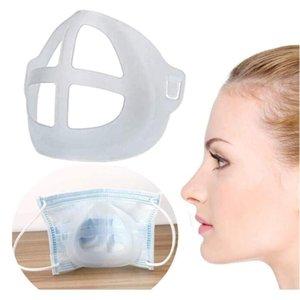 Máscara 3D Bracket reutilizável Batom Proteção stand Prova Inner Nose Aumento Breathing Space cobrir a boca 1000pcs Titular CCA12551