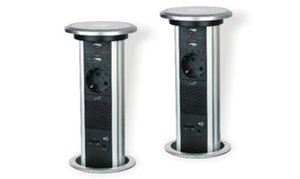Bluetooth Speaker 1 Sockets German Table Top Plug and Sockets for Desk