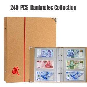 240 24.5 * 34,5 centimetri Protezione Kraft Banconote Album valuta Raccolta Raccolta della copertura del supporto di 40 fogli di carta libro 80p denaro home003 lHrCI