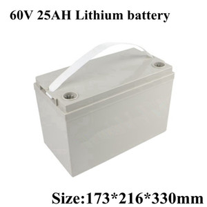 Free Shipping 60V 3000W Lithium Scooter Battery 25AH Electric Bike Li-ion Lipo with 50A BMS and 67.2V 3A Charger