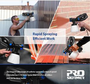 FreeShipping 600W Electric Spray Gun 4 Nozzle Sizes 1000ml HVLP Household Paint Sprayer Flow Control Airbrush Easy Spraying