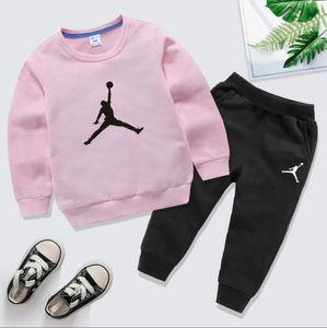 2020 Designer-Marken Baby-Frühlings-Herbst-Kleidung Sets Kind-Jungen-Mädchen-Spitze Hosen 2 PC-Klagen Anzug Outfits 1-8 Jahre Kostüm pour enfants