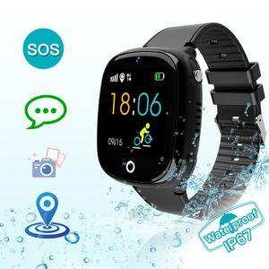 HW11 GPS Rastreador reloj inteligente para niños Relojes para niños Posicionamiento del teléfono IP67 Reloj impermeable para niños y niña SOS Llamadas