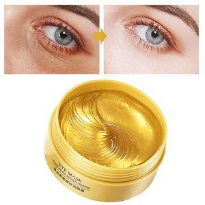 Eye Patches 60 Pcs Gold Sleep Mask Korea Face Care Hydrogel Eyes Patch Gel Collagen Moisturizing Remove Dark Circles Anti Age M