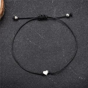 Kadınlar Erkekler Koruma Luck Ayarlanabilir El dokuması Kırmızı Kordon Konu Amulet için Kırmızı / Siyah Aşk Dize Charm Bilezikler