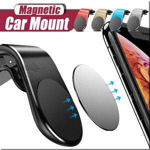 Magnetic Car Phone Holder L Shape Air Vent Mount Stand in Car GPS Mobile Phone Holder For iPhone 11 pro max