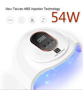 54W Uv Lamp New LCD Display Nail Polish Dryer ABS Fast Dry Time Manicure Lamp 30s 60s 90s Timer Nail Light Care Tool