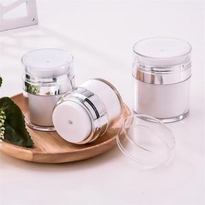 15 30 50 G / ML жемчужно-белый акрил безвоздушного Jar Круглый Вакуумный Крем Jar 0.5oz 1OZ 1.7oz Cosmetic Упаковка Pump Упаковка бутылки для путешествий