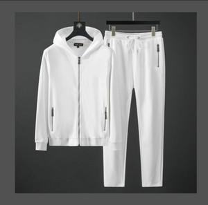 Vendita calda! 2020 Designer Tute di autunno della molla dei vestiti 2pcs casuale Sports Felpe Pantaloni Imposta cappuccio + pantaloni uomo vestito di sudore Outwear