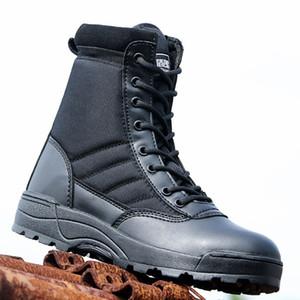 Uomini Autunno Khaki Stivali tattico Special Force Scarpe Mens Boots Army Swat caviglia di combattimento Scarpe Moto adulti Militares