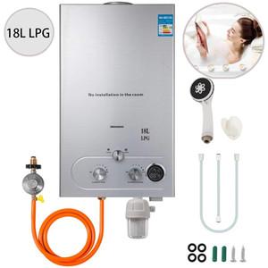 Propan-Warmwasserbereiter 18L 4.8GPM 36KW Sofort Liquefied Petroleum Gas-Wasser-Heizung Edelstahl-Boiler Kit 4.8