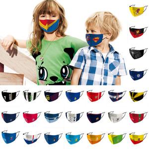 Primera marca de fútbol de la mascarilla reutilizable y lavable Máscara cabritos cara de impresión Máscara superhéroe Spider Man anti PM2.5 Haze prueba de polvo protector
