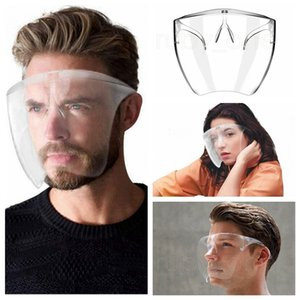 Safety Faceshield With Glasses Frame Transparent Full Face Cover Protective Mask Anti-fog Face Shield Clear Designer Masks RRA3577