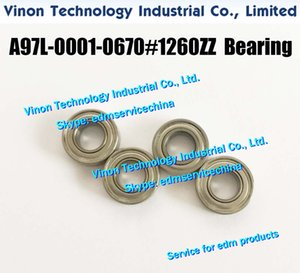 (5PCS PACK) A97L-0001-0670#1260ZZ edm Ball Bearing For F401,F402 (Stainless Steel type) A97L-0001-0986, A97L00010670, A97L.0001 0670 1260ZZ