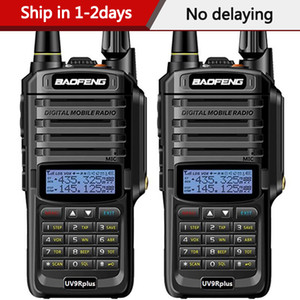 2pcs baofeng UV-9R plus waterproof 15W walkie talkie High power two way radio VHF UHF portable radio walkie talkie uv9R plus