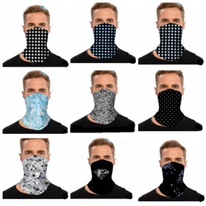 Masks Diamond Rhinestone Printed Magic Scarf Bandana Multifunctional Outdoor Cycling Headscarf Breathable Mask Outdoor Neck Wraps GWF1925