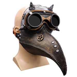 Halloween-Vogel-Masken Punk Retro Plague Beak Doktor Plague Crow Maske Halloween Halloween-Kostüm-Festival Cosplay freies Verschiffen Maske Maske