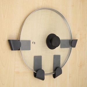 6pcs ABS Pot Couvercle Plaque Support de rangement Sans poinçonnage cuillère Holder cuisine Supply