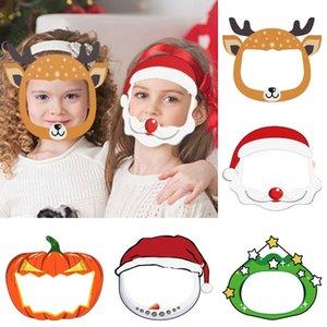 Los niños careta de Halloween Máscara claro transparente de protección de dibujos animados PET reutilizable anti salpicaduras de Navidad Mar Máscara del Envío DDA523