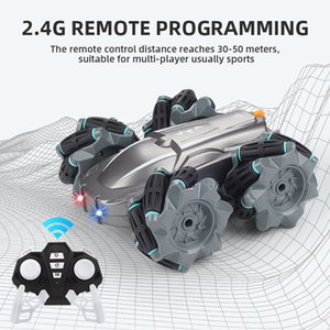 Cross-border new product Rotating and rolling remote control car climbing off-road vehicle 2.4G remote control drifting stunt car children's