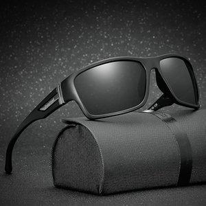 erkekler için DesolDelos Marka Klasik polarize güneş gözlüğü Erkekler Sürüş Kare Siyah Çerçeve Gözlük Erkek Güneş Gözlükleri Gafas Gafas 117
