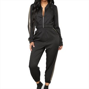 2019 Womens Tracksuit Sets Long Sleeve Sweatsuits Outfits Casual Sweatshirt Jogging Sweatpants Suit Zipper Solid Sport Set