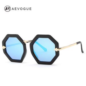 AEVOGUE occhiali da sole donne del progettista di marca metallo Tempio Octagon Telaio Occhiali da sole Retro UV400 AE0402