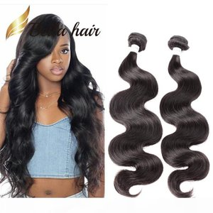 Bella Hair? Grade 10A 10~24inch Unprocessed Brazilian Virgin Human Hair Extension Body Wave Hair Weaves Natural Color 2Bundles Free Shipping