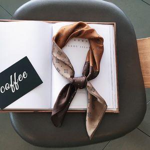 Sciarpa della fascia di modo di stampa dei capelli seta di disegno Sciarpa di seta borsa di prua del nastro di modo maniglia 2020 delle donne Bundle per le donne regalo di Natale della ragazza