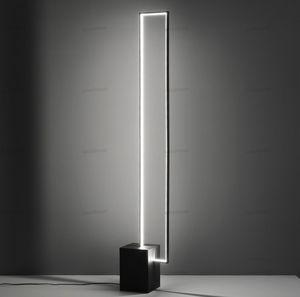 İskandinav minimalist led zemin lambaları tricolor lamba uzaktan kumanda kapalı dekor siyah metal ile düğmesi ayakta lamba