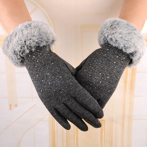Женщины Зима Открытый Спорт Теплый запястье перчатки Luvas Femininas Para о Inverno Женские перчатки Симпатичные Luvas де Inverno Полный Fingers10.9