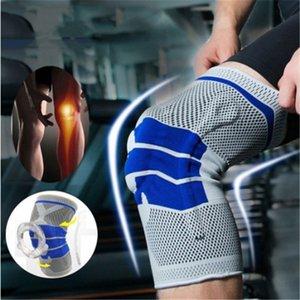 Deportes rodilla rodilleras ortopédica de silicona protector de la primavera Brace funcionamiento del baloncesto Dance Pad rodillera táctico rótula