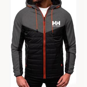 2020 Новой мода Hoody срощенной куртки Printed HH Мужчины Толстовка Толстовка вскользь пальто с капюшоном Кардиган Плюс Флис Тонких одежд