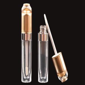 New high-end 5ML golden round lip gloss tube packaging material lip glaze bottle cosmetic lip gloss tube