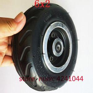 "6X2 에어 휠 사용 6 ""타이어 합금 허브 160mm 공압 타이어 전기 스쿠터 F0 공압 휠 트롤리 카트 인플레이션 타이어"