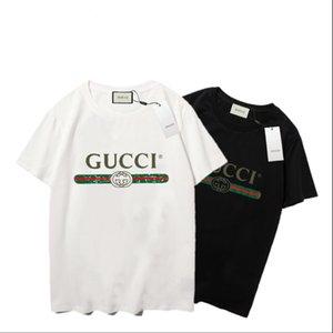 t gömlek italya tarzı yaz New moda gevşek baskı pamuk kısa kollu çift gömlek yüksek kaliteli klasik erkeklerin kadınları womens tişörtleri # b457