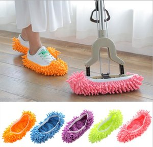 Lazy Shoes Cover Mop Slipper Floor Dust Microfiber Cleaning Slipper Home Cloth Clean Shoe Cover Mophead Overshoes Cleaning Tools LSK203