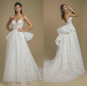 New Beach Wedding Dresses Sweetheart A Line Lace Appliqued Bohemian Bridal Gowns Custom Made Garden Vestido De Noiva Backless