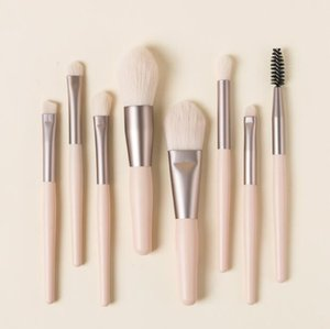 Professional 8 Pcs Eyeshadow Makeup Brushes Set Wood Handle Soft Hair Brush Tools for Loose Powder Blush Eyebrow Cosmetics 4 Colors DHL
