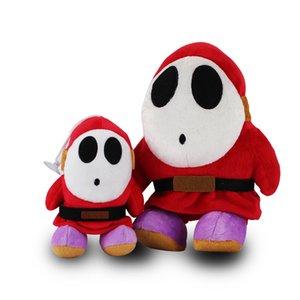 2pcs / set Shy Guy Plush Doll Super Mario Bros Plush Stuffed Toys bebê Toy frete grátis