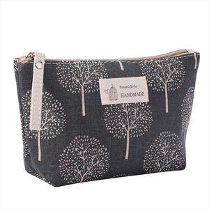 Women Plaid Travel Cosmetic Bag Makeup Bag Handbag Female Zipper Purse Small Cosmetics Make Up Bags Travel Beauty Organizer