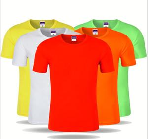 Round neck short-sleeved quick-drying clothes T-shirt advertising shirt printing logo custom marathon sports team clothing factory wholesale