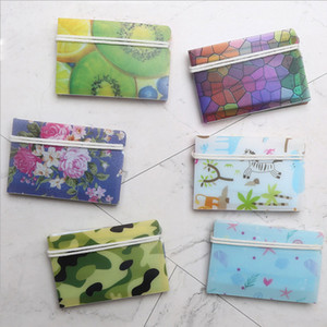 Neue Blumen-Tarnung Kunststoff Make-Halter-Klipp bewegliche Schutz Folding Gesichtsmaske Lagerung Fall 8 Farben