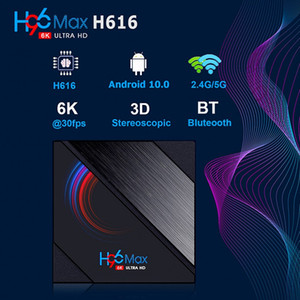 H96 MAX h616 allwinner 6K Smart TV Box 2.4G 5G Wifi BT4.0 Media Set Top Box 4+32GB 64GB Android 10.0