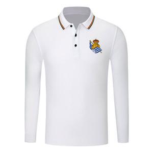 real sociedad 2020 Camisa de manga larga de los hombres de moda Deportes Fútbol Polo tendencia Polo solapa de alta POLO de negocios