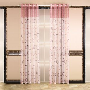 Pastoral Printing Gauze Curtain Finished Bedroom Living Room Tulle For Windows Living Room Curtains Tulle For Bedroom