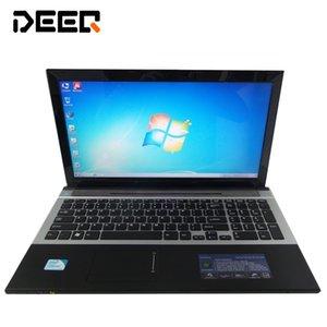 jogo laptop de 15,6 polegadas no tel computador notebook econômicos com DVD-RW 8GB DDR3 500GB HDD Quad Core WIFI na webcam HDMI